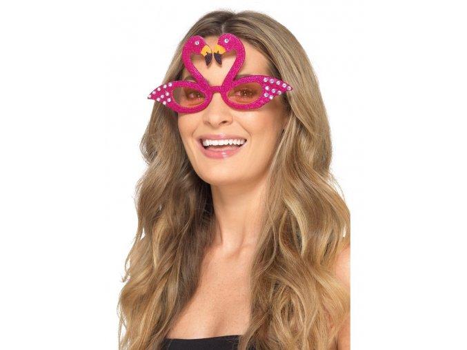 hawaii párty brýle plameňák