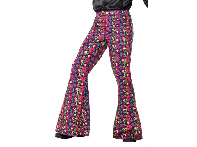 Pánské kalhoty zvonáče Peace 60leta