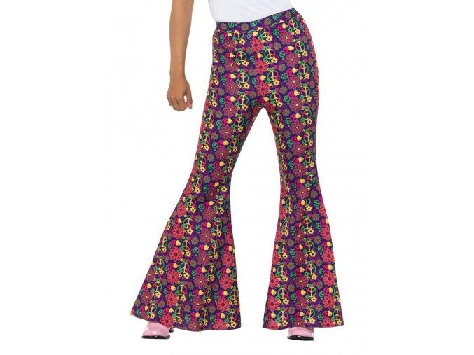 Dámské kalhoty zvonáče Peace karneval