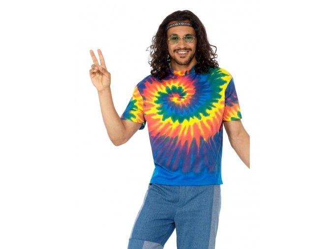 Hippies batikované triko levně
