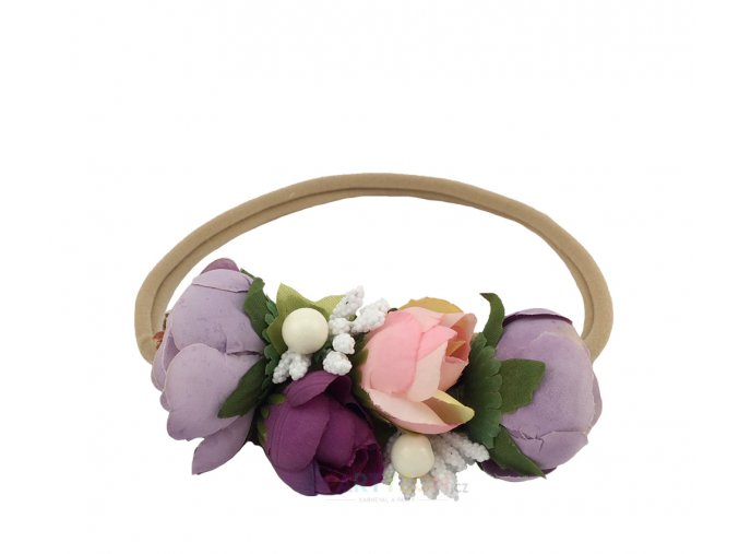 svatební květinový věneček do vlasů