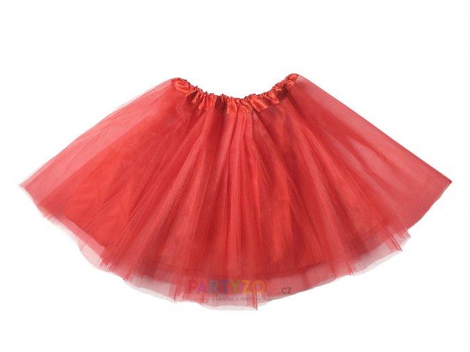 tutu sukně červená dospělý