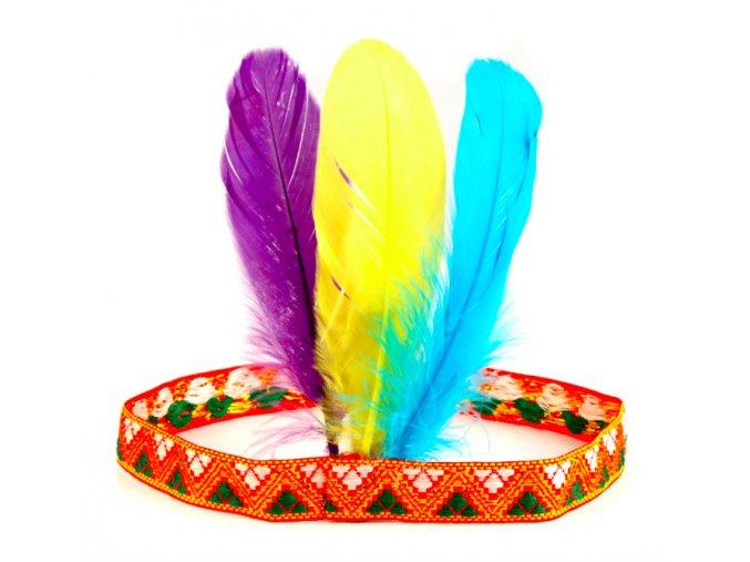 karnevalová čelenka indián levně