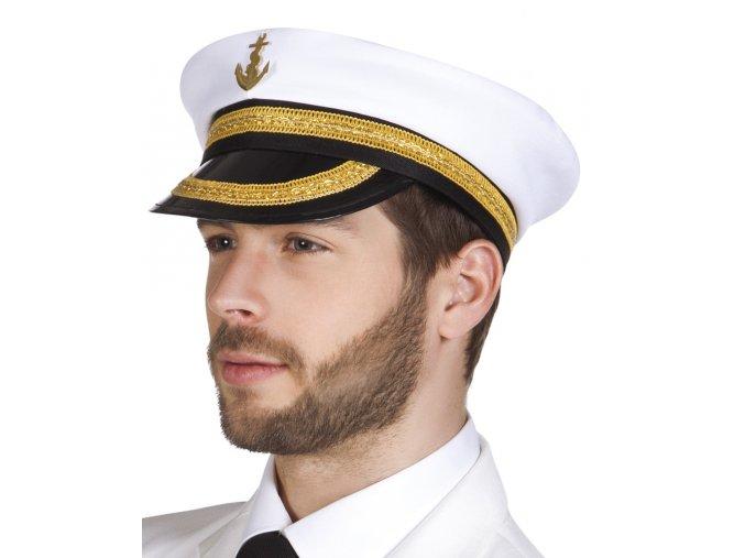Kapitánská čepice bílá levně