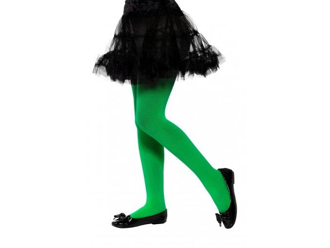 Dětské punčocháče zelené halloween čarodějnice