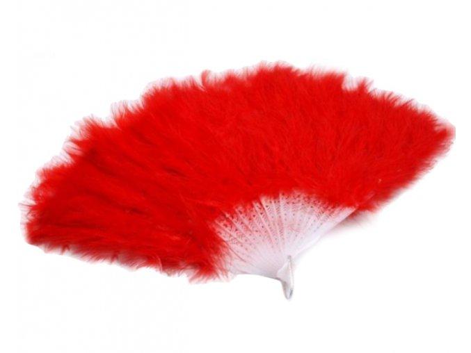 červený vějíř péřový