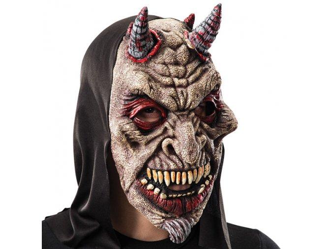 Maska čerta s kapucí levne