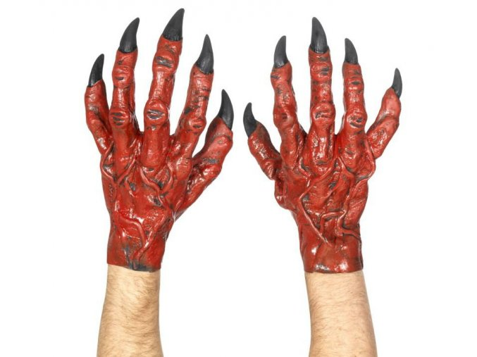 certovske ruce cervene