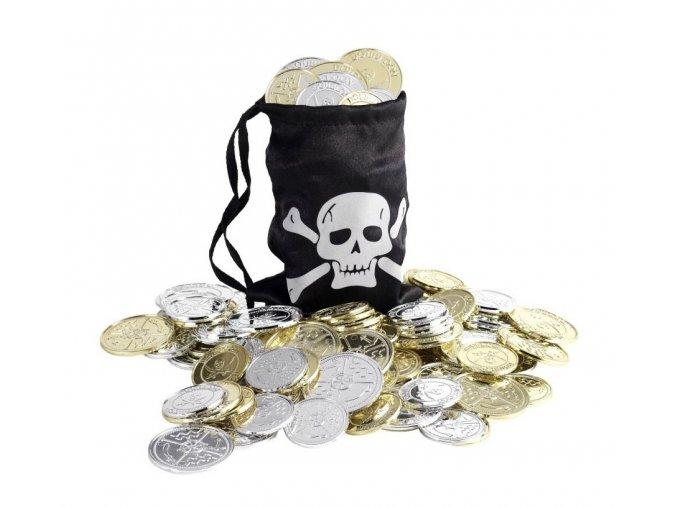 Pirátský pytlík s mincemi