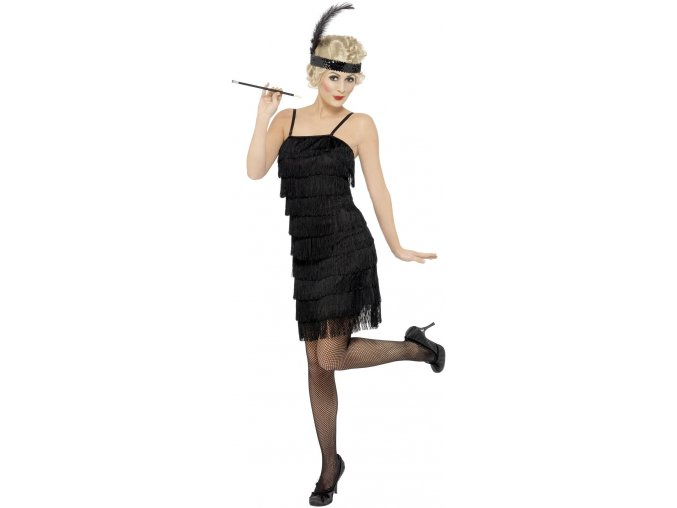 flapper šaty deluxe