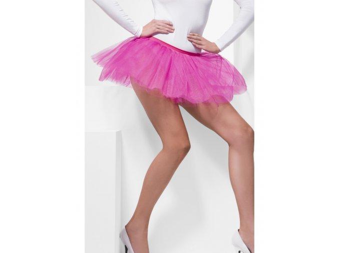 Dámská tutu sukně růžová krátká