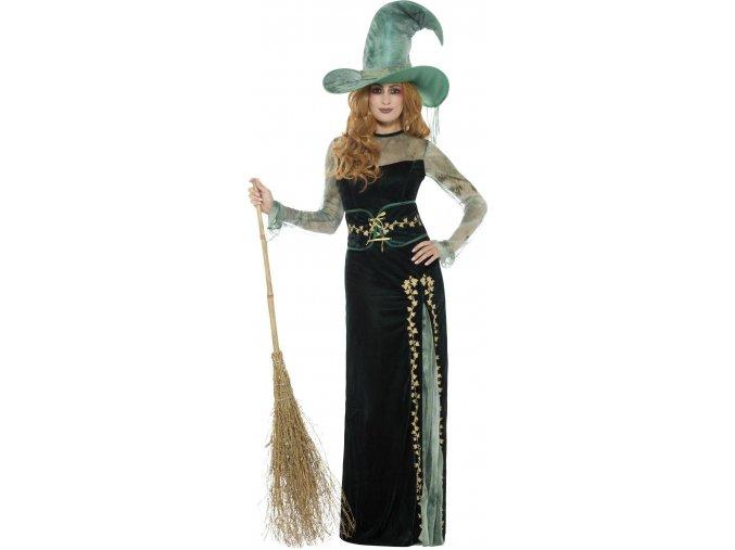 zelený kostým čarodějnice
