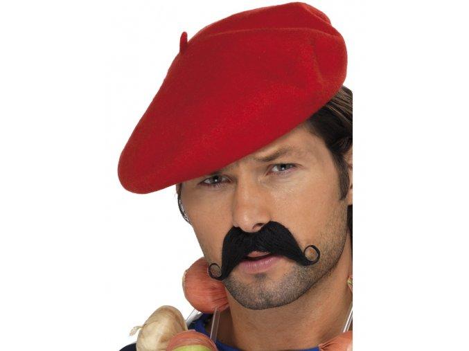 Pánský baret červený