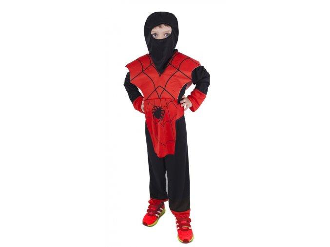 Dětský kostým ninja červený
