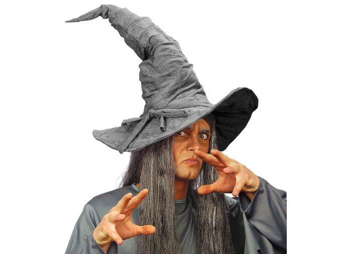 klobouk čaroděj šedý