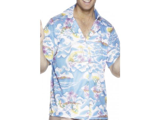 modrá havajská košile