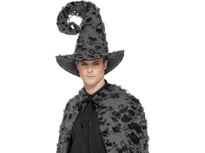 klobouk čaroděj černošedý