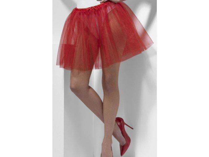 červená spodnička