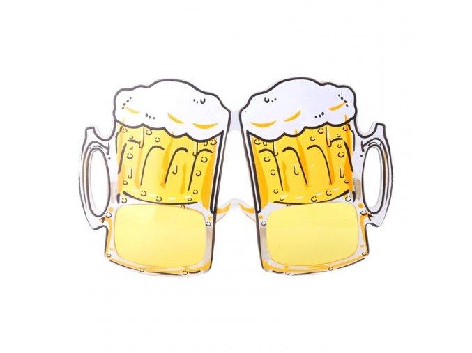 brýle pivo karneval