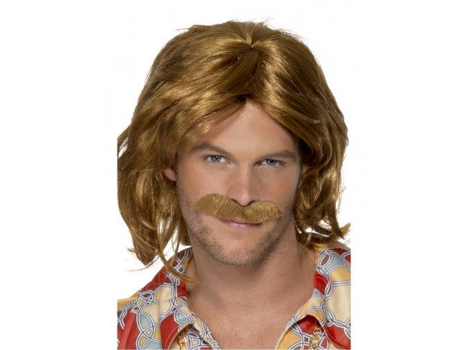Pánská paruka ABBA (Benny) s knírem