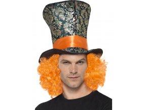 Vysoký klobouk Hatter s vlasy