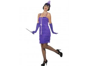 Charleston šaty 30. léta fialové