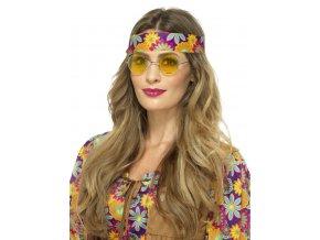 Hippie brýle lenonky žluté