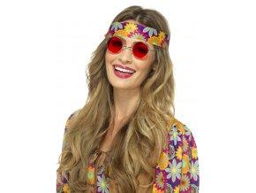 Hippie brýle lenonky červené