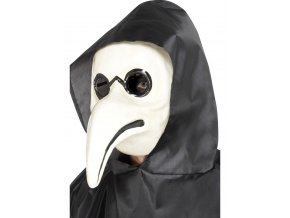 Benátská maska Doktor bílá