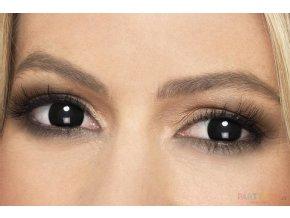 crazy Barevné kontaktní černé čočky horor
