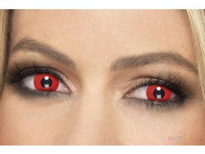 crazy Barevné kontaktní červené čočky
