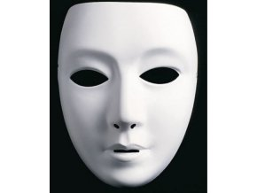 bílá maska k domalování