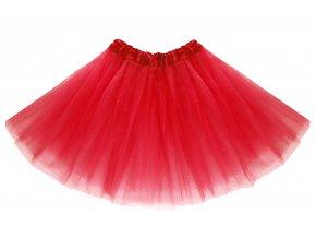 tutu tylová sukně červená na karneval a párty