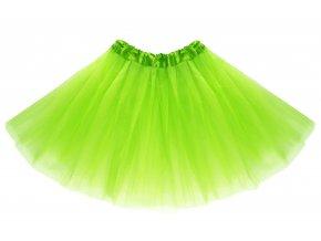 tutu tylová sukně zelená na karneval a párty