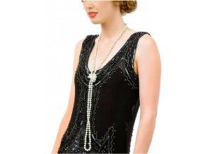 Perlový náhrdelník k šatům 20. léta