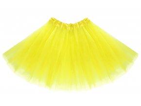 tutu tylová sukně žlutá na karneval a párty
