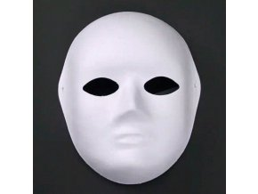 Bílá celoobličejová maska k domalování