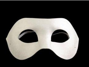 Bílá maska na ples k domalování