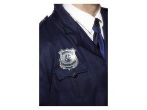 Policejní odznak kovový pro kostým policisty