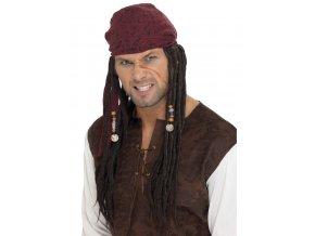 Pirátský šátek s dredy Jack Sparrow