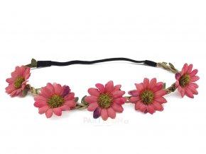 květinová čelenka červená partyzon