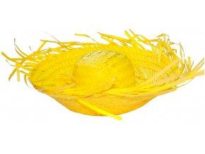 Havajský slamák žlutý