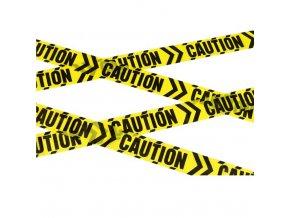 žlutá výstražná páska