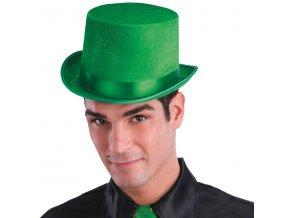 zelený cylindr vodník klobouk