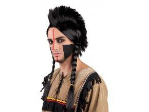 Pánská indiánská paruka s čírem