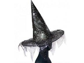 čarodějnický klobouk s pavučinou