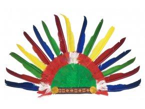 indiánská čelenka barevná