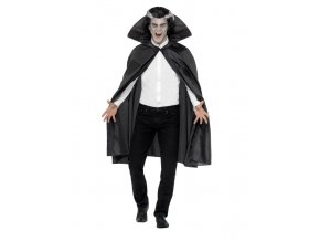 Čarodějnický plášť s vysokým límcem černý PARTYZON.CZ