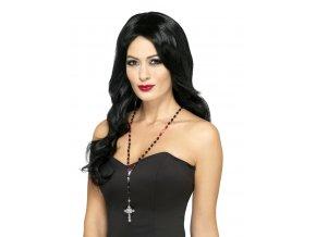 halloween Upíří náhrdelník s křížem