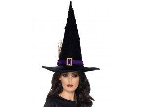 Klobouk čarodějnice černý